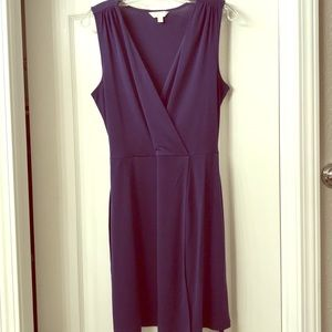 Faux wrap dress with tie detail at waist